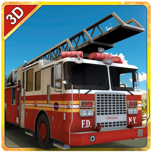 Fire Rescue Truck Simulator – Drive firefighter lorry & extinguish the fire