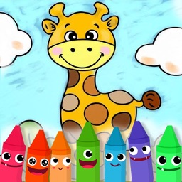 Preschool Education Paint Animals - Free Color Book, Coloring Pages For Kids!
