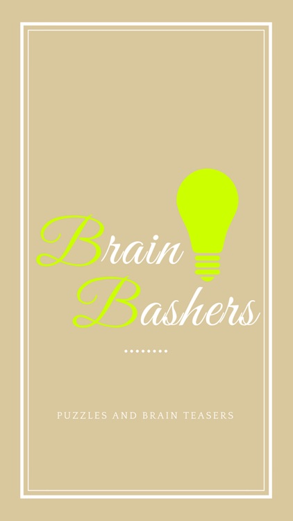 BrainBashers : Puzzles and Brain Teasers screenshot-0