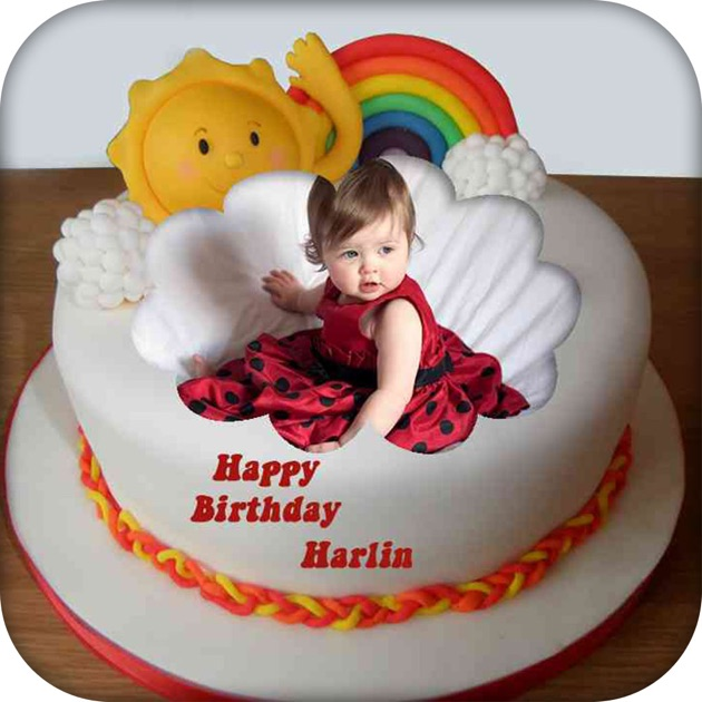 Name And Photo On Birthday Cake On The App Store