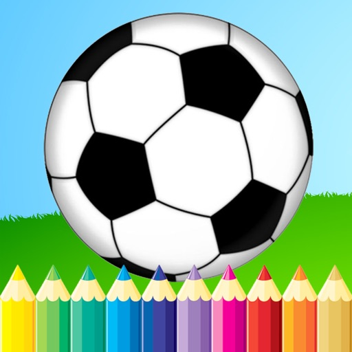 Soccer Football Coloring Book Sport Drawing And Painting For Kid Free Game Good Color Hd By Sakda Setrin