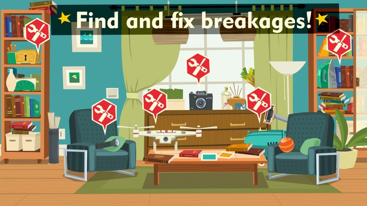 Tiny repair - fix home appliances and become a master of broken things in a cool game for kids screenshot-3