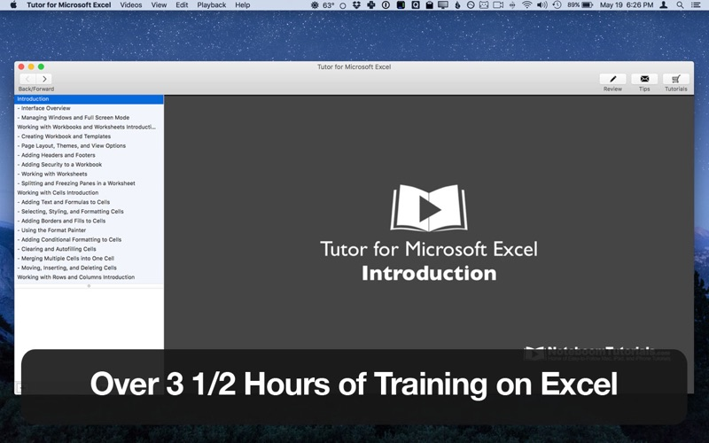 Tutor for Microsoft Excel Screenshot