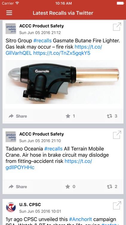 Recall Alert & Safety News Notification