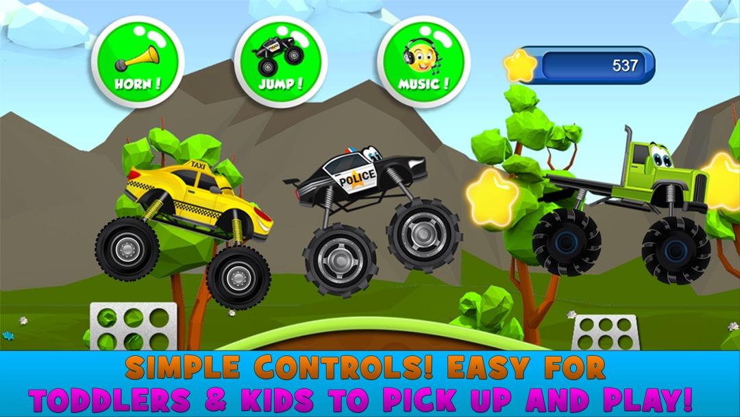 Monster Trucks Kids Racing Game Online Game Hack And Cheat Gehack Com