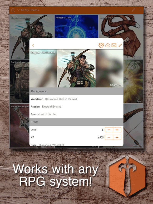 Sheet Yourself: Create/Manage RPG Character Sheets