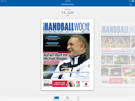 Handballwoche ePaper-ipad-0