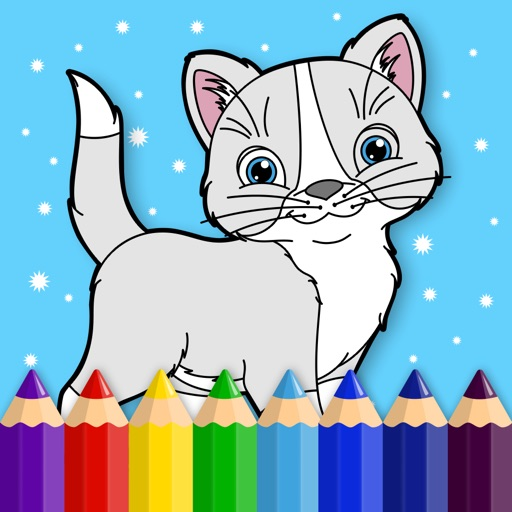 Kitty - Coloring Book for Little Boys, Little Girls and Kids - Free Game