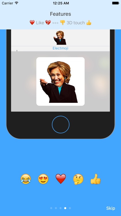 ElectMoji : Election & vote emoji sticker keyboard by Donald Trump, Hillary Clinton, Ted Cruz screenshot-4