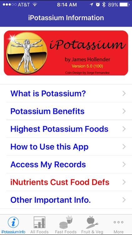 iPotassium - iNutrient: Potassium