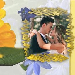 Love Flower Photo Frame - Photo frame editor