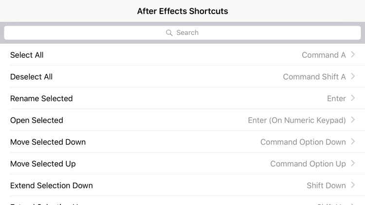 Shortcut: After Effects Edition screenshot-3