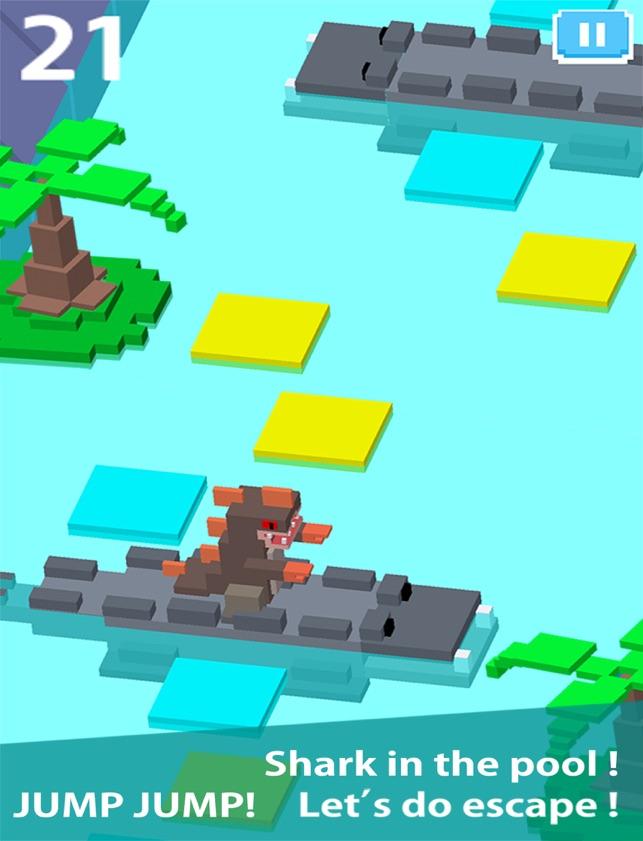 Blocky Jumping Run Avoid Shark, game for IOS