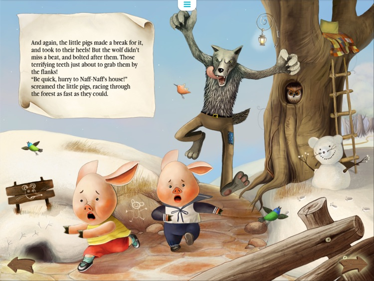 Three Little Pigs Today. Animated book for toddlers. screenshot-3