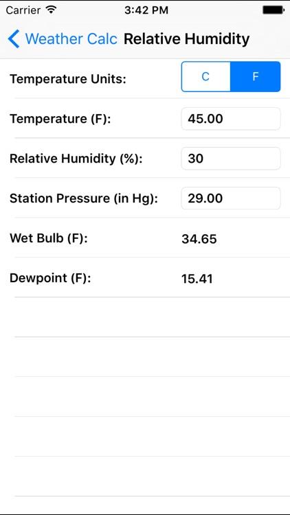 Weather Calc screenshot-4