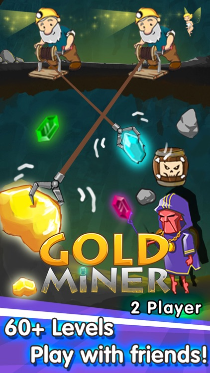 Gold Miner—2 Player Games & Classic Pocket Mine Digger Adventure(Free+Online)