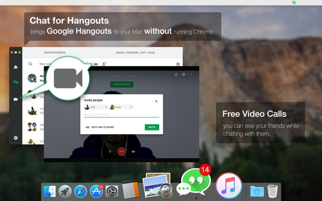 chat for hangouts message video call on the mac app store. Black Bedroom Furniture Sets. Home Design Ideas