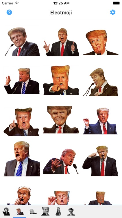 ElectMoji : Election & vote emoji sticker keyboard by Donald Trump, Hillary Clinton, Ted Cruz screenshot-3