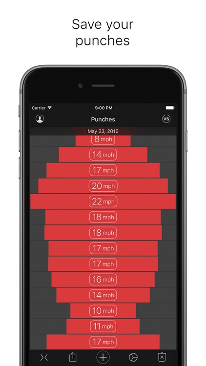 Punches - measuring power and speed screenshot-3