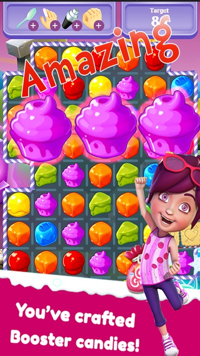 Sweet Charm of Cream Cakes Match 3 Free Game
