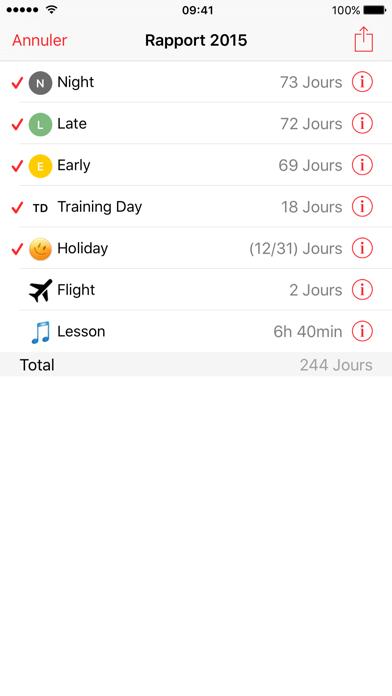 iPlanner France iphone captures décran