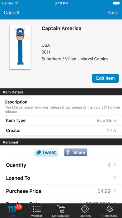 Screenshot for Pez Collectors in United States App Store