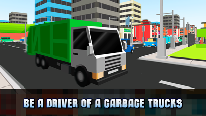 Pixel City Garbage Truck Driver 3D Full screenshot one