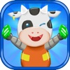 Super Space Cow - Hardest & Funniest 2D Cow Asteroid Escape through Space & Time - Escape with Startfighter or Perish with the Deathstar