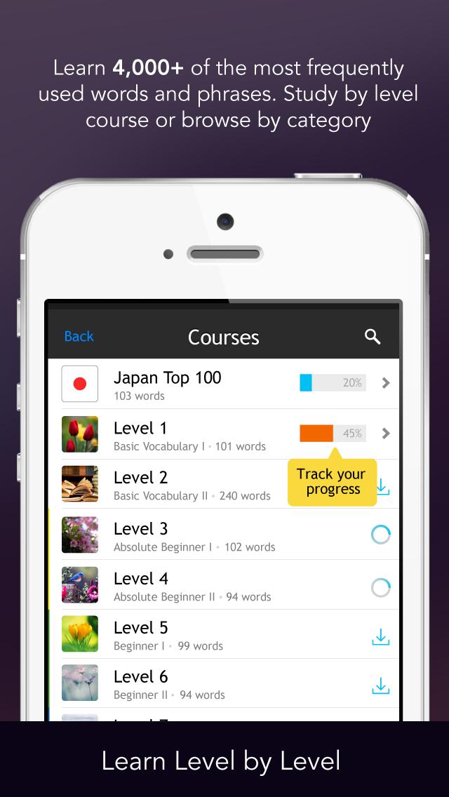 Learn Japanese - Free WordPower screenshot one