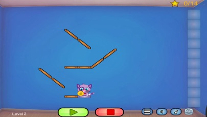 Cat Shmat - Cut the rope like Action Physics Puzzle Game screenshot two