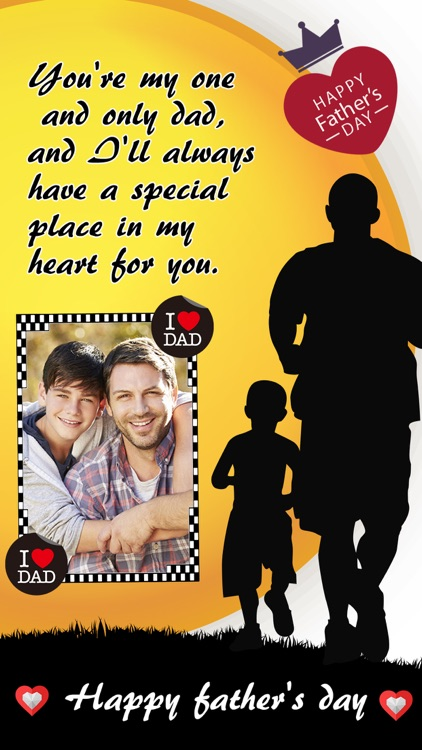 Father's Day Photo Frame.s, Sticker.s & Greeting Card.s Make.r HD