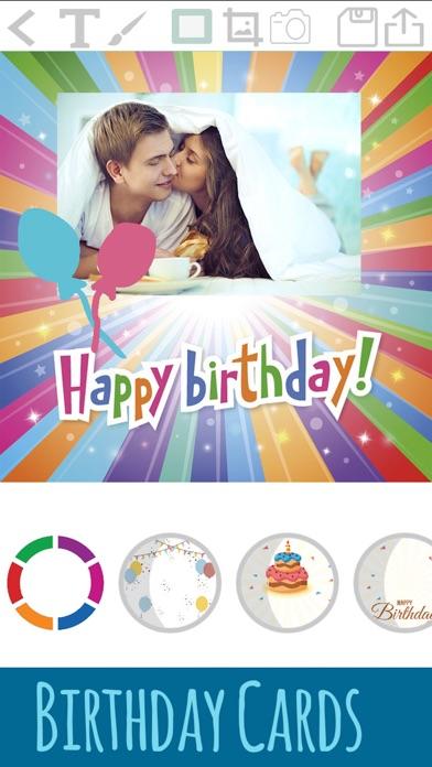 誕生日カードを作成 - お祝いの編集とデザインポストカードを紹介画像1