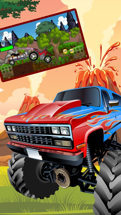 monster truck climb : free car racing games screenshot-1