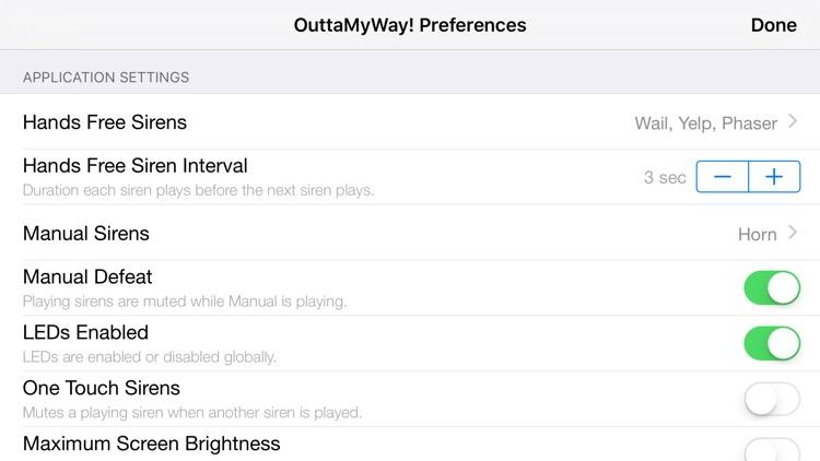 OuttaMyWay! - Personal Lights & Siren screenshot-4