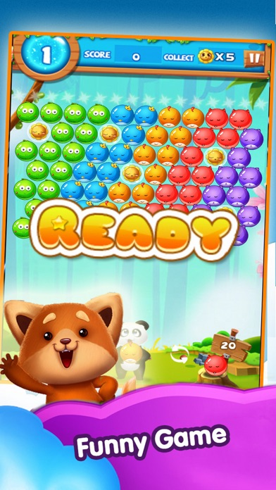 Puzzle Bubble Crush Mania screenshot one