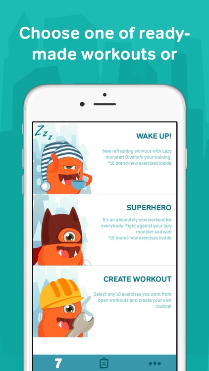 7 minute workouts with lazy monster PRO: daily fitness for kids and women