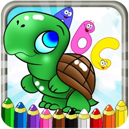 ABC ANIMALS COLORING BOOK - FREE DRAWING PAINTING FOR TODDLER AND KIDS