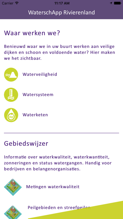 WaterschApp Rivierenland screenshot one
