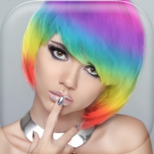 Hairstyle Dye And Wig Effect