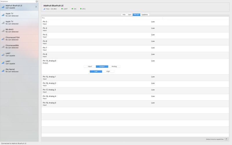 Adafruit Bluefruit LE Connect скриншот программы 3