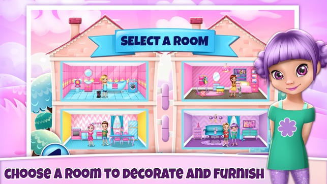 My Play Home Decoration Games: Create A Virtual Doll.House For