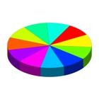 Pie Chart 3D icon