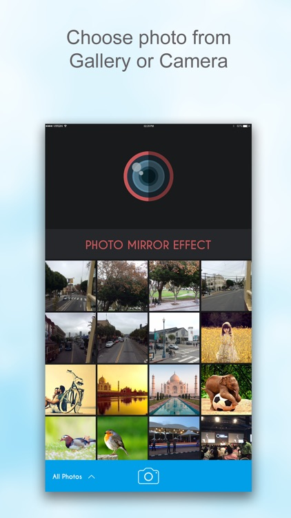 Mirror Photo Editor : Reflection Filters for 3D Image & Photo Collage & Photo Grid