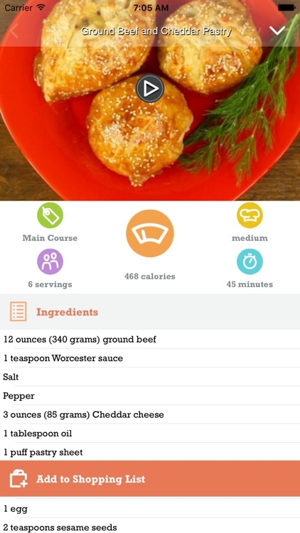 SoDelicious - Quick Delicious Cooking Recipes for Food & Drinks with Video, Shopping List & Music Player