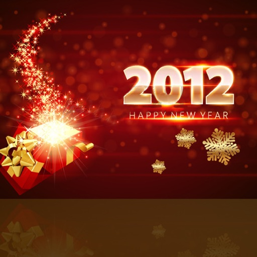 New Year Card 2012 icon