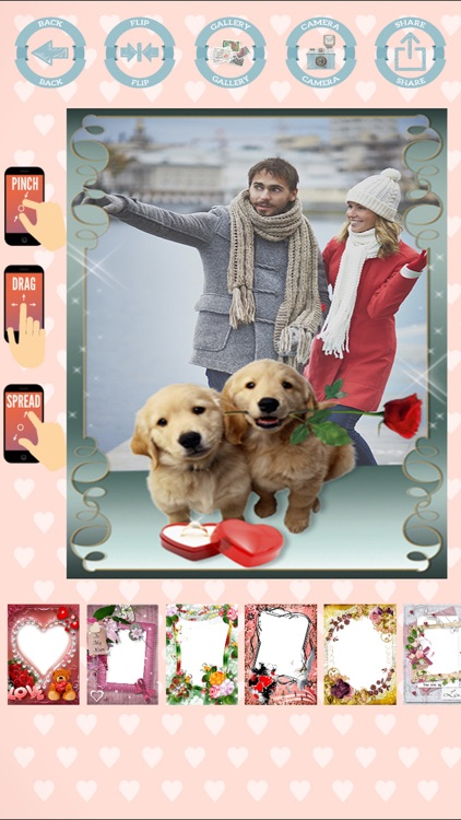 Love frames to create cards with photos screenshot-4