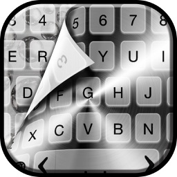 Silver Keyboard Themes Free – Luxury Keyboards with Fancy New Emoji.s, Fonts and Backgrounds