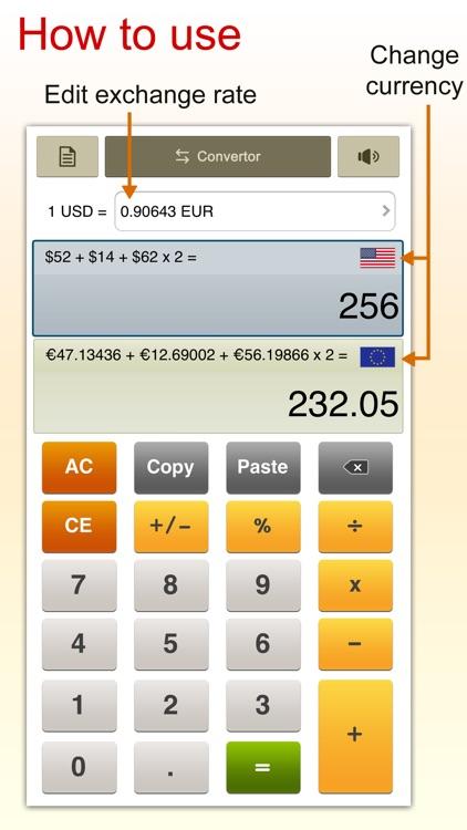 ExchangeCal - currency converter calculator screenshot-3