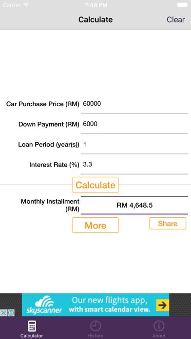 Malaysia Car Loan Calculator screenshot one