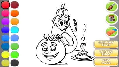 coloring pages - vegetable